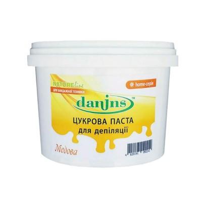 Сахарная паста для шугаринга в домашних условиях Danins, медовая, 500 г