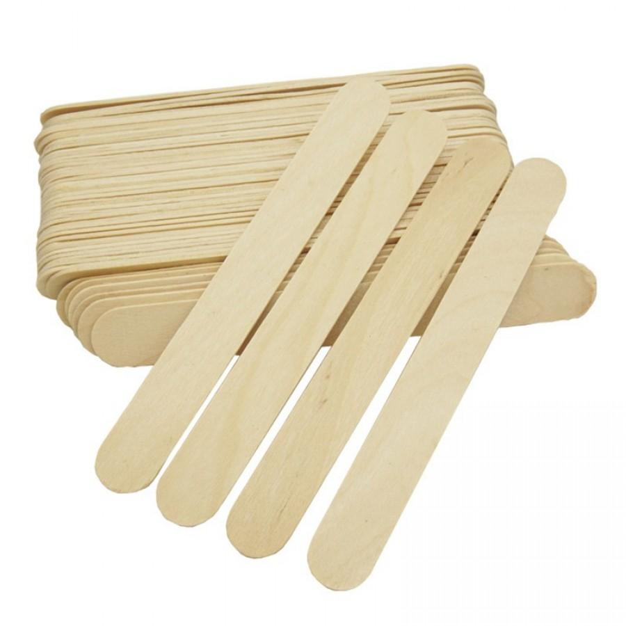 Дерев'яний шпатель для воску / цукрової пасти TM Danins, 150 * 17 * 1,6 мм, 100 шт