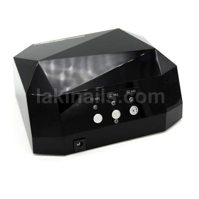 Сенсорная гибридная лампа для ногтей  LED+CCFL 36 W, Diamond, черная