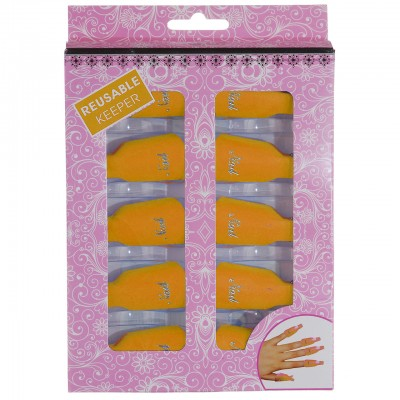 Зажимы - клипсы для снятия гель-лака оранжевые