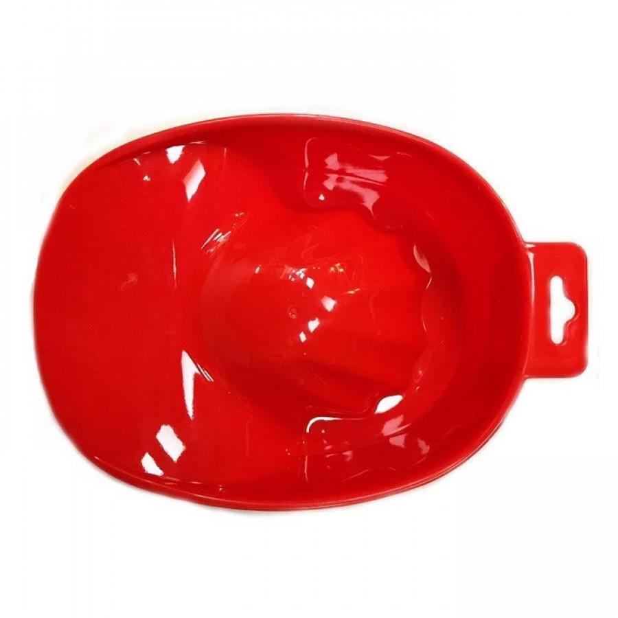 Ванночка манікюрна червона пластикова