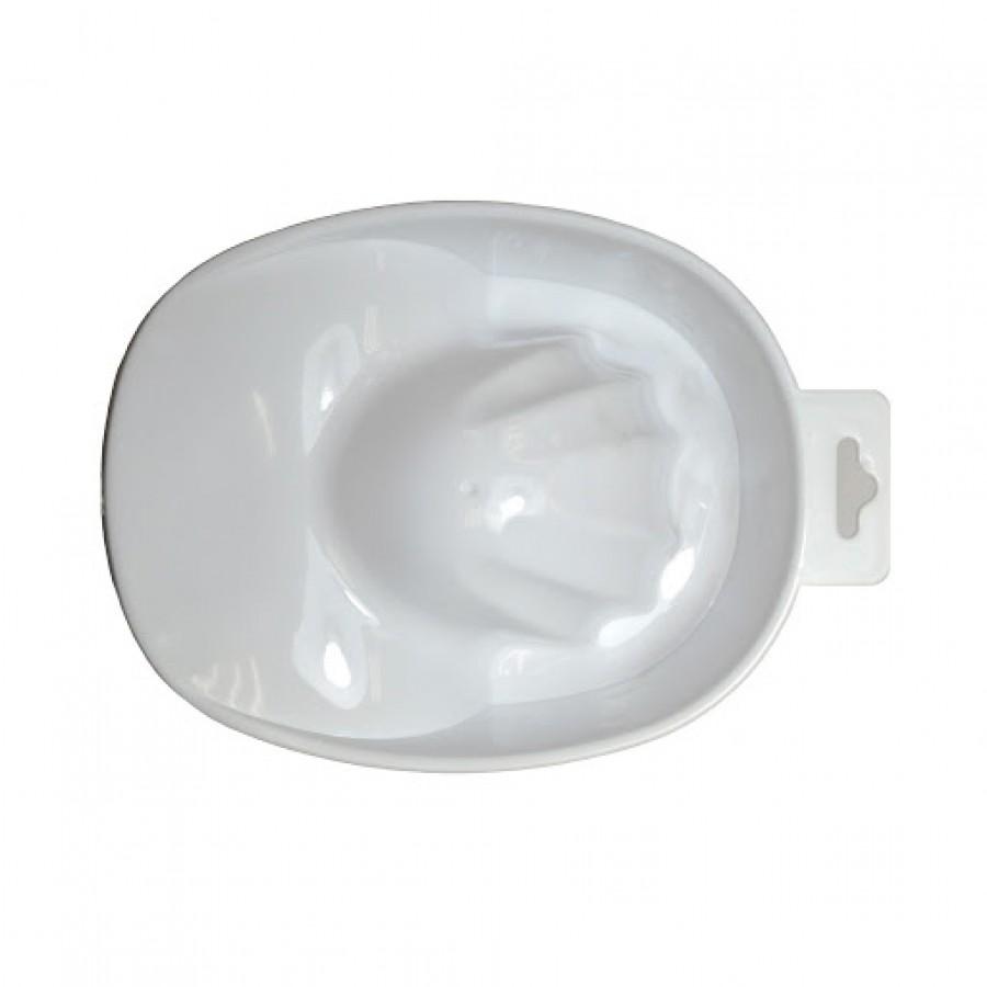 Ванночка манікюрна біла пластикова