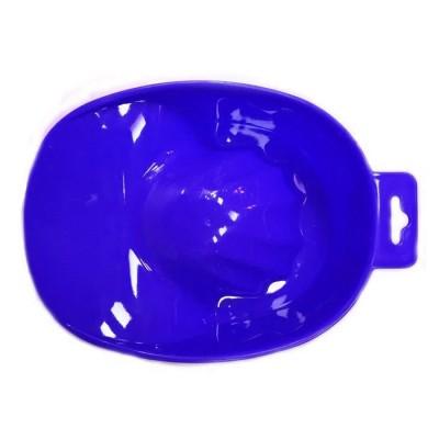 Ванночка манікюрна синя пластикова