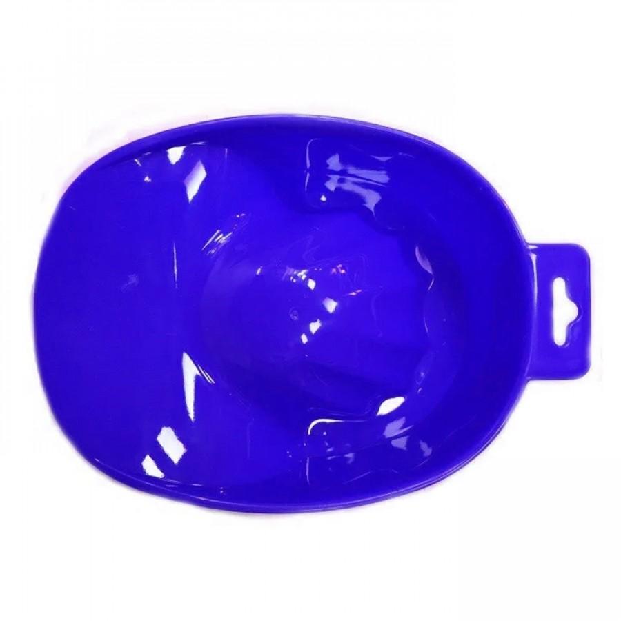 Ванночка маникюрная синяя пластиковая