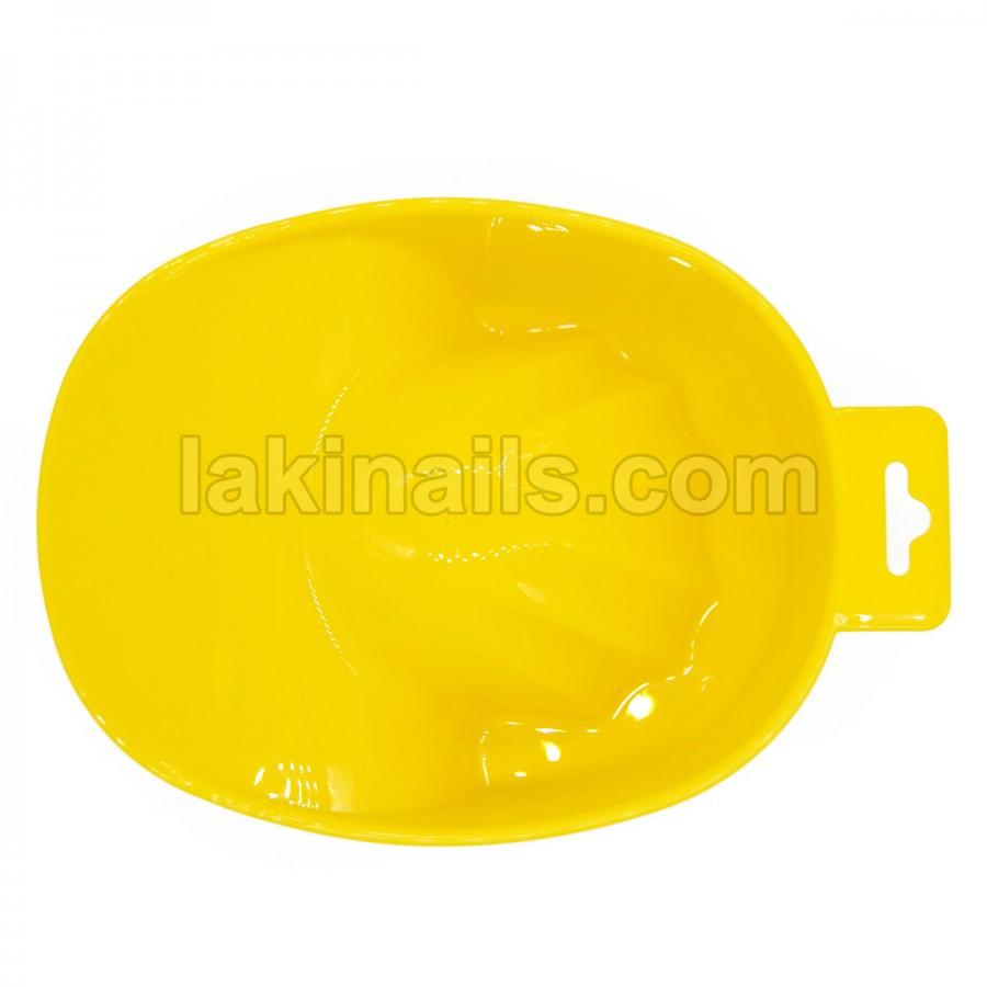 Ванночка маникюрная,желтая, пластиковая