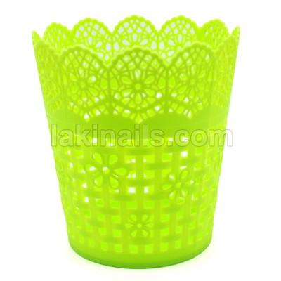Подставка пластиковая для кистей, инструментов, зеленая