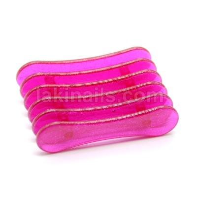 Подставка пластиковая для кистей, малиновая