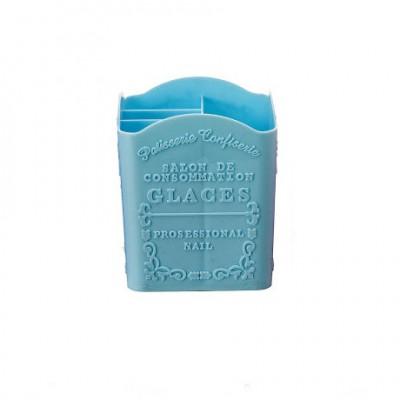 Підставка пластикова для кистей, інструментів, блакитна