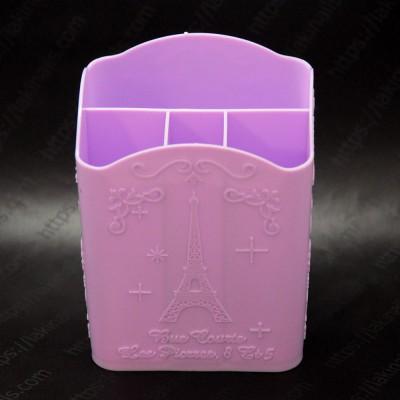 Подставка пластиковая для кистей, инструментов, сиреневая