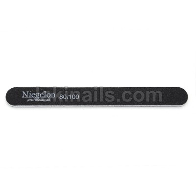 Пилочка узкая Niegelon 80*100, черная