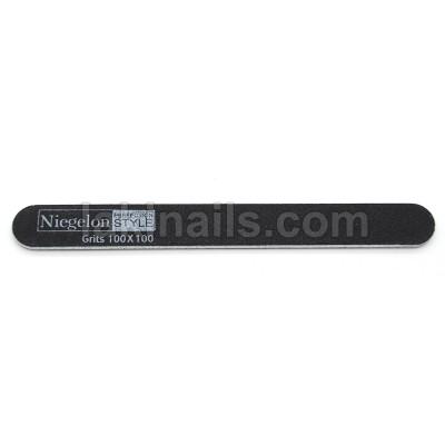 Пилочка узкая Niegelon 100*100, черная