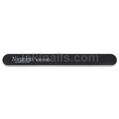 Пилочка узкая Niegelon 100*180, черная