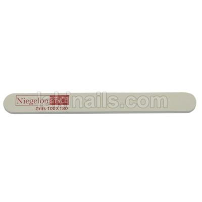 Пилочка узкая Niegelon 100*180, белая