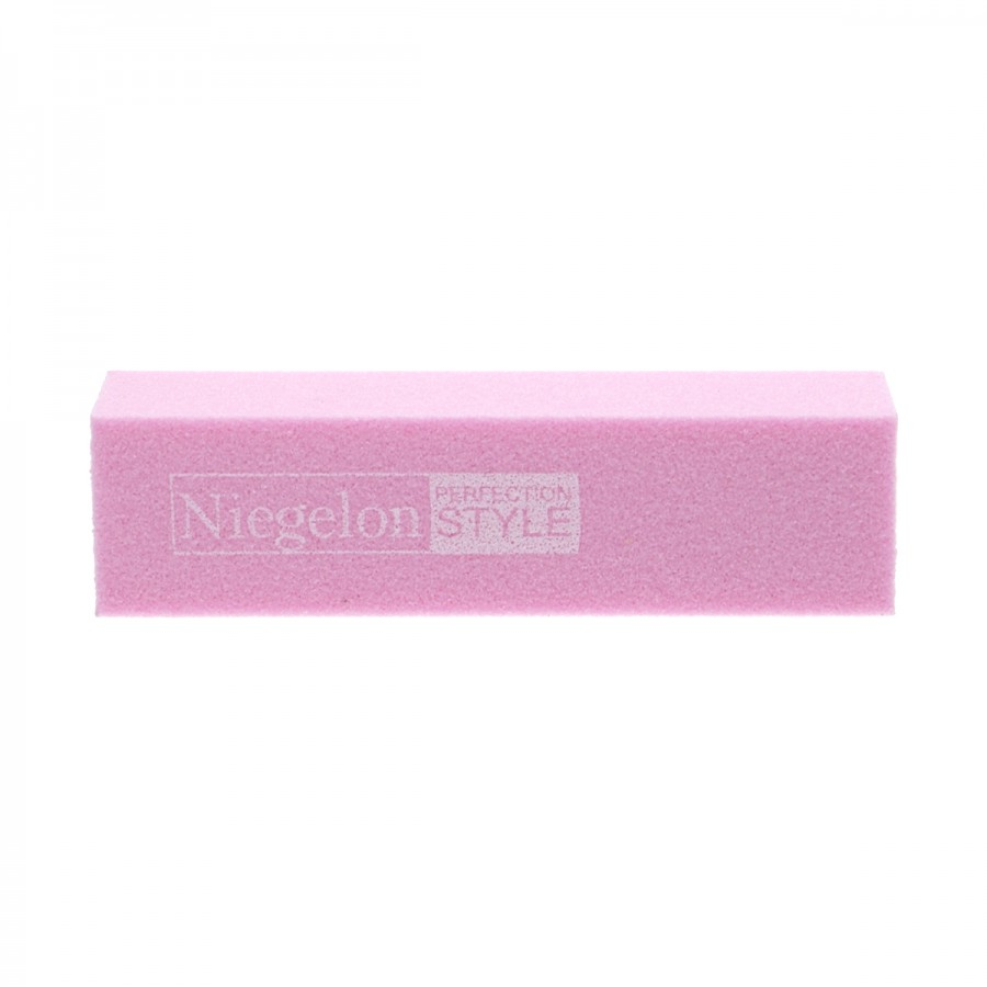 Бафік шліфувальний Niegelon рожевий 4х сторонній 180 * 180