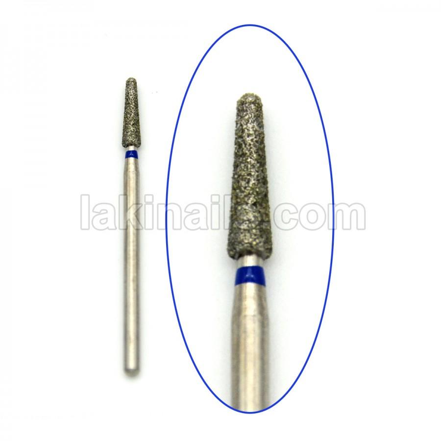 Алмазна насадка (бор) для фрезера, Конус усічений з півсферою на торці, 199 синій 2,7 мм