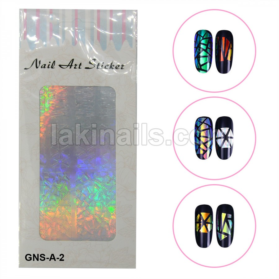 Голографічні стікери для нігтів, GNS-A-2
