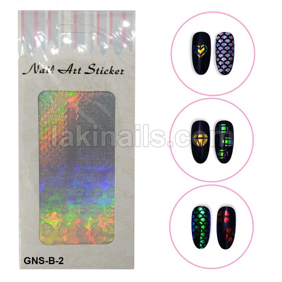 Голографічні стікери для нігтів, GNS-В-2