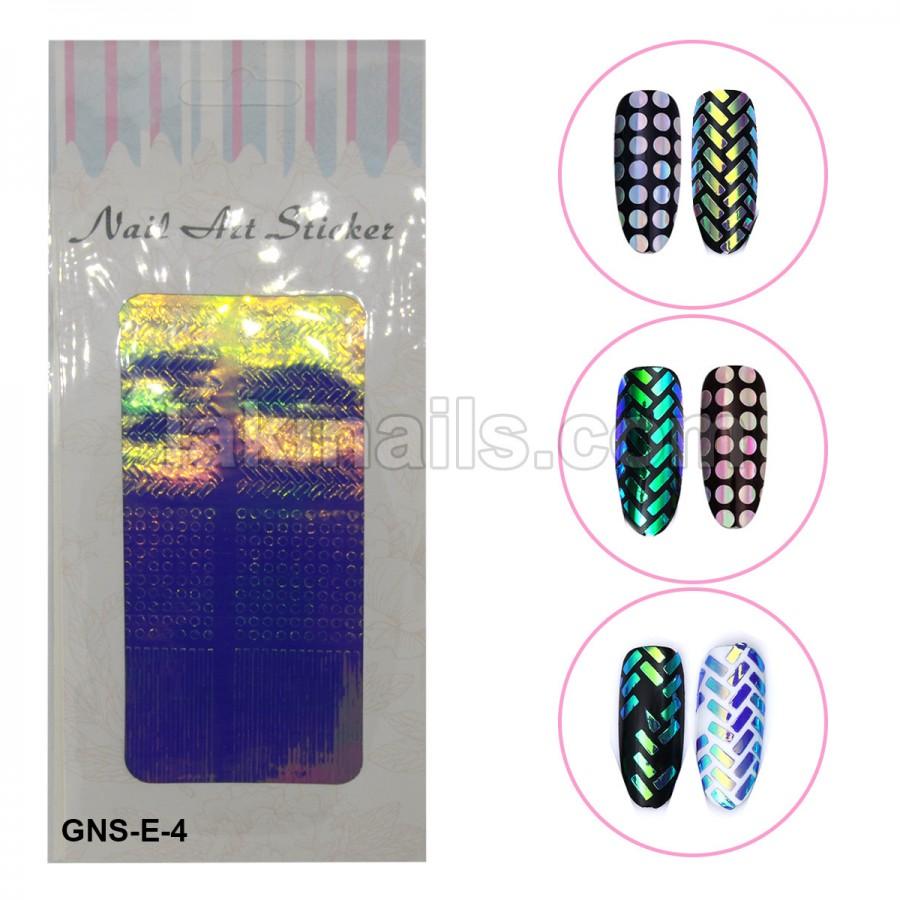 Голографические стикеры для ногтей, GNS-E-4