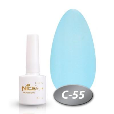Гель-лак NICE COOL №С55, світло-блакитний з шіммери
