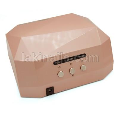 Сенсорная гибридная лампа для ногтей  LED+CCFL 36 W, Diamond, бежевая