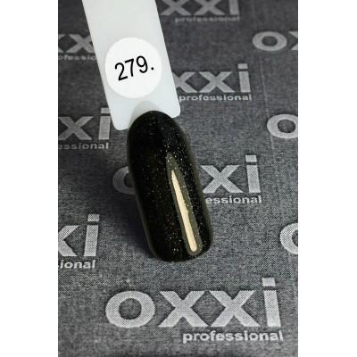 Гель-лак OXXI №279, чорний з голографічними блискітками, 10 мл