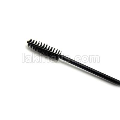 Щеточка нейлоновая для ресниц и бровей, черная