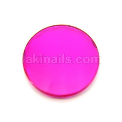 Многогранный кристалл для клея, розовый