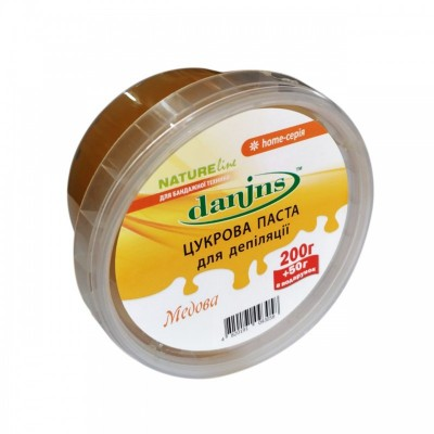 Сахарная паста для шугаринга в домашних условиях Danins, медовая, 200 г