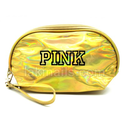"Косметичка ""PINK"", золотистый хамелеон"
