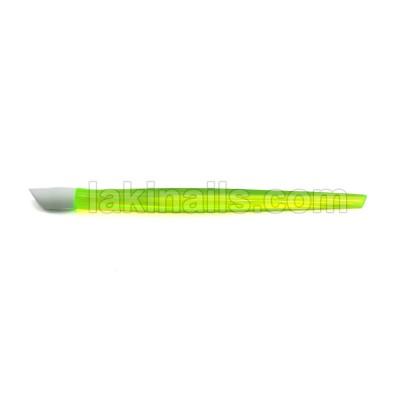 Пластиковая палочка для кутикулы, зеленая