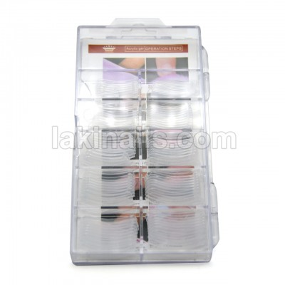 Верхні форми для нарощування акрілгелем, полігелем, гелем, 100 шт в упаковці
