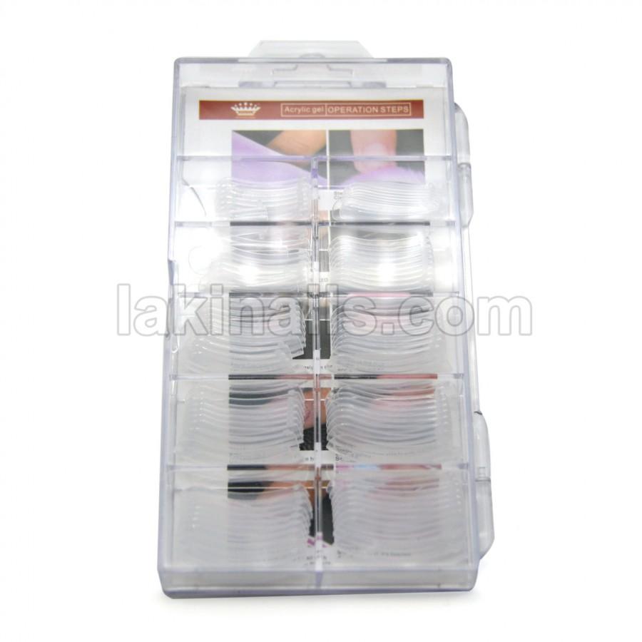 Верхние формы для наращивания акрилгелем, полигелем, гелем, 100 шт в упаковке
