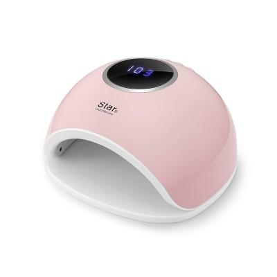 Сенсорная гибридная лампа Star 5 UV LED 48 W, розовая