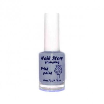 Лак для стемпінга Nail Story, сірий №6