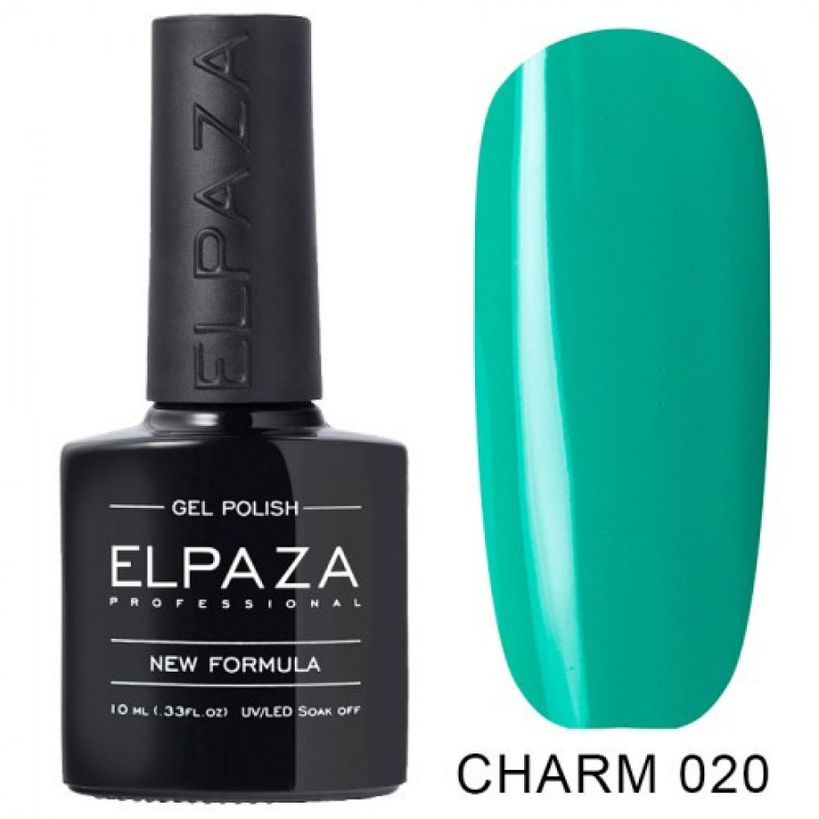 Гель-лак ELPAZA Charm №020 Кариби, бірюзовий