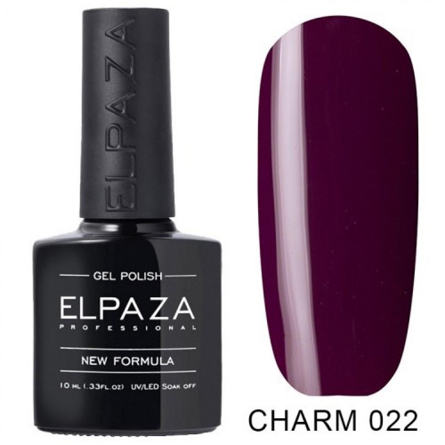 Гель-лак ELPAZA Charm №022 Елексир, бордово-сливовий