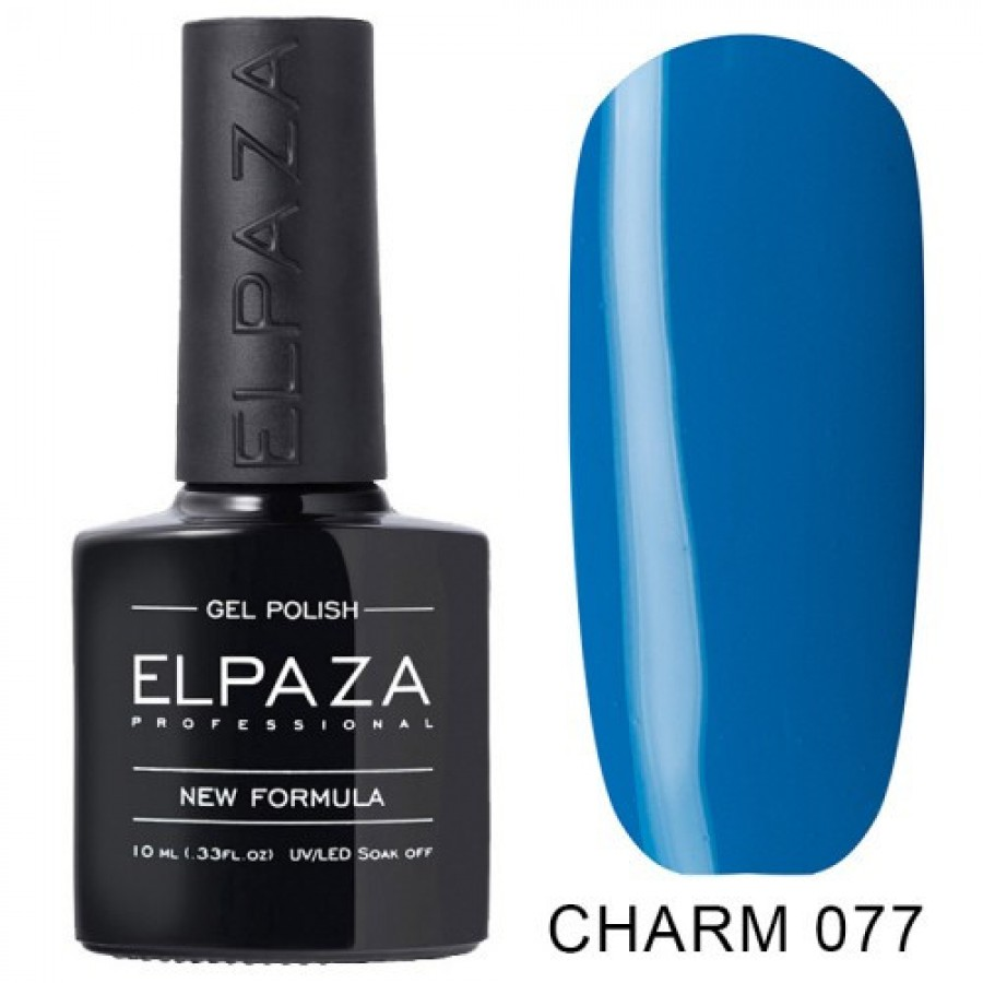 Гель-лак ELPAZA Charm №077 Кобальт, синій