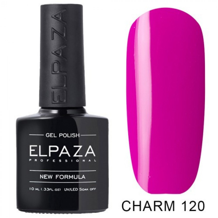 Гель-лак ELPAZA Charm №120 Вербена, яскраво-рожевий