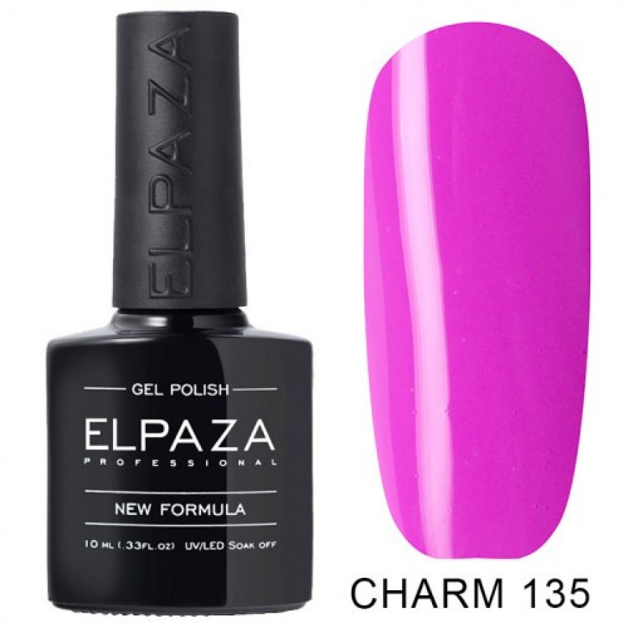 Гель-лак ELPAZA Charm №135 Сальса, розово-сиреневый