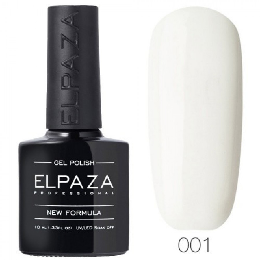Гель-лак ELPAZA Classic №001 Альпійський сніг, білий