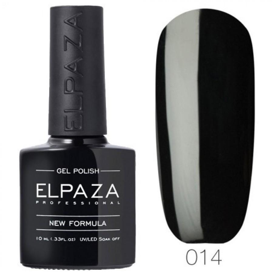 Гель-лак ELPAZA Classic №014 Істинно-чорний, чорний