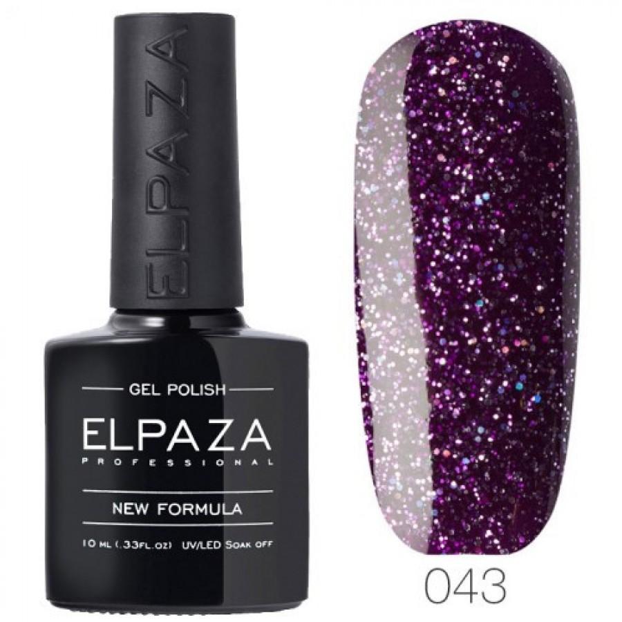 Гель-лак ELPAZA Classic №043 Пурпурный дождь, пурпурный с голографическим шиммером