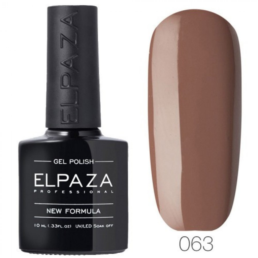 Гель-лак ELPAZA Classic №063 Шоколад, коричневый