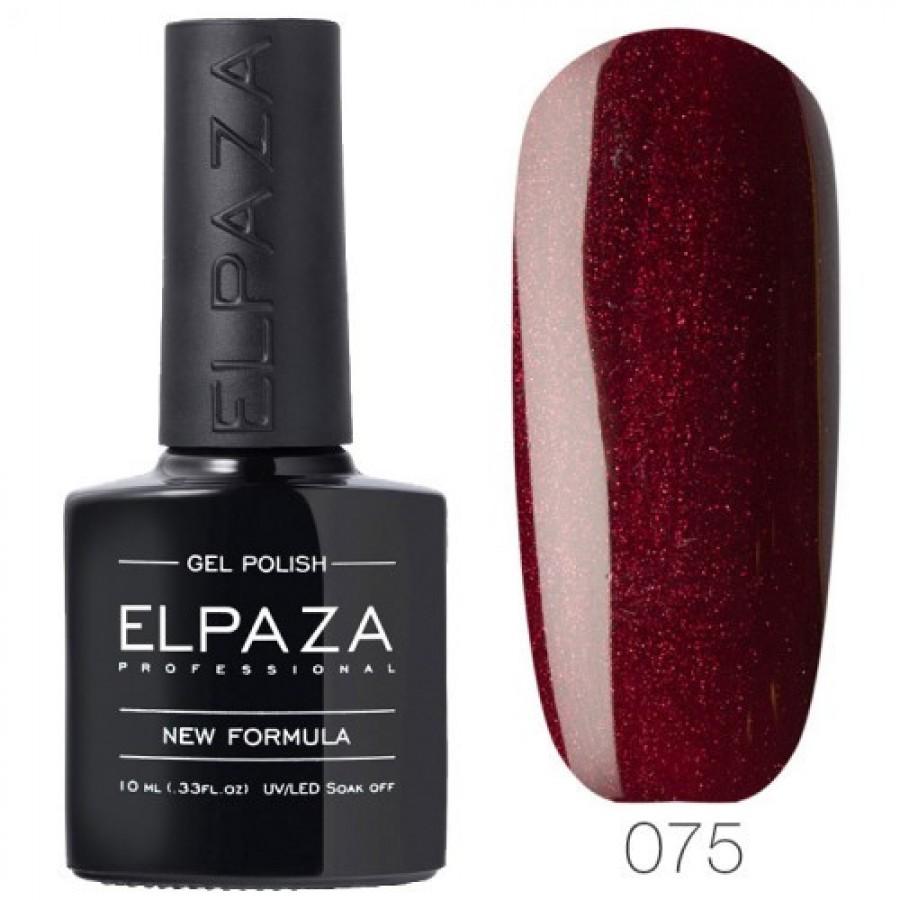 Гель-лак ELPAZA Classic №075 Стигла вишня, бордовий з червоним шіммери