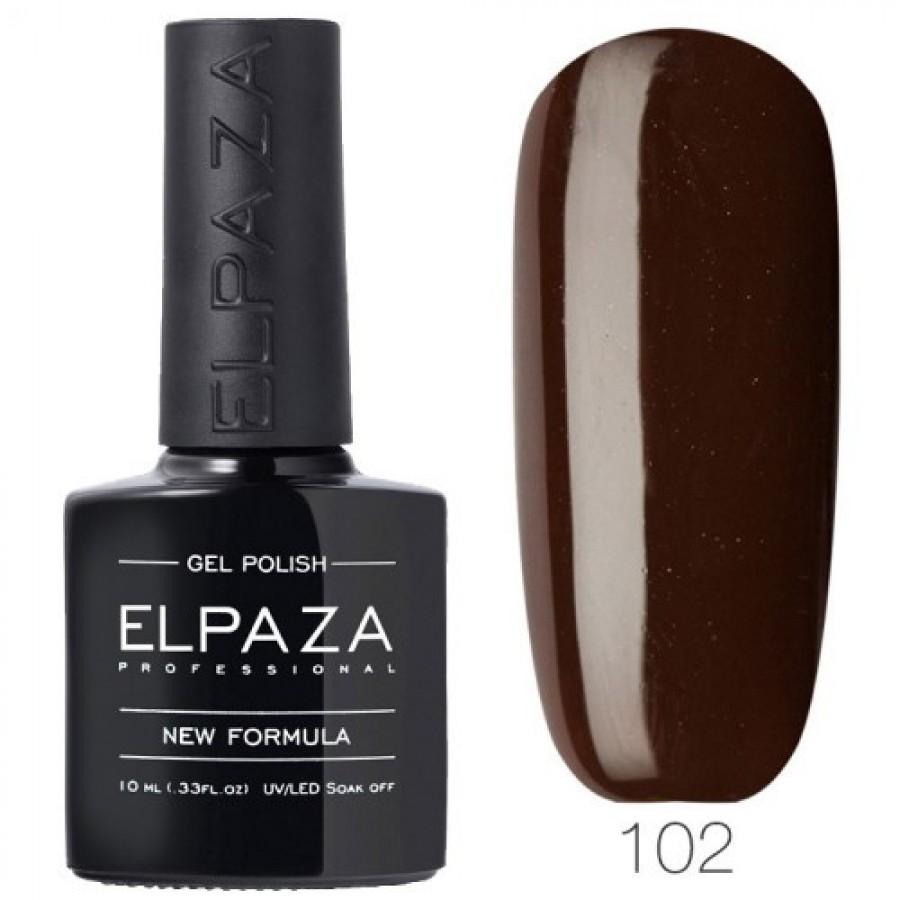 Гель-лак ELPAZA Classic №102 Стиглий каштан, темно-коричневий