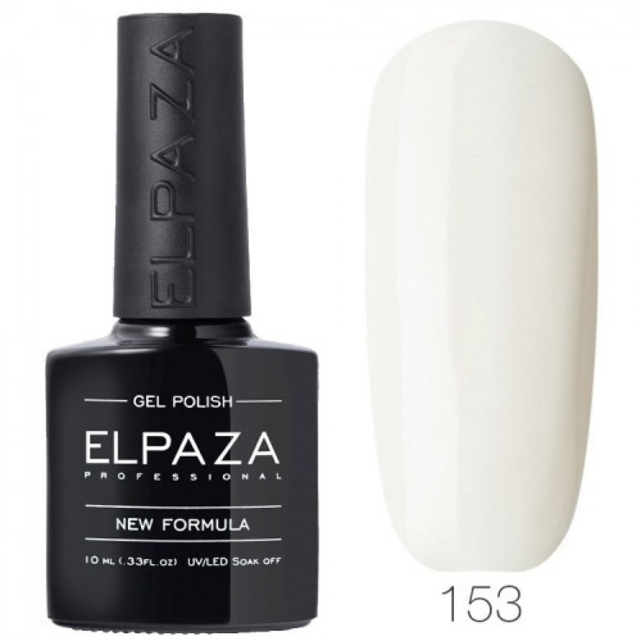 Гель-лак ELPAZA Classic №153 Молочний білий, білий