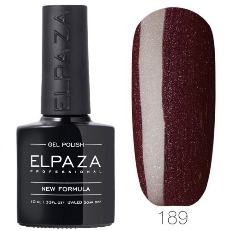 Гель-лак ELPAZA Classic №189 Перламутровое Бордо, красно-коричневый с шиммером