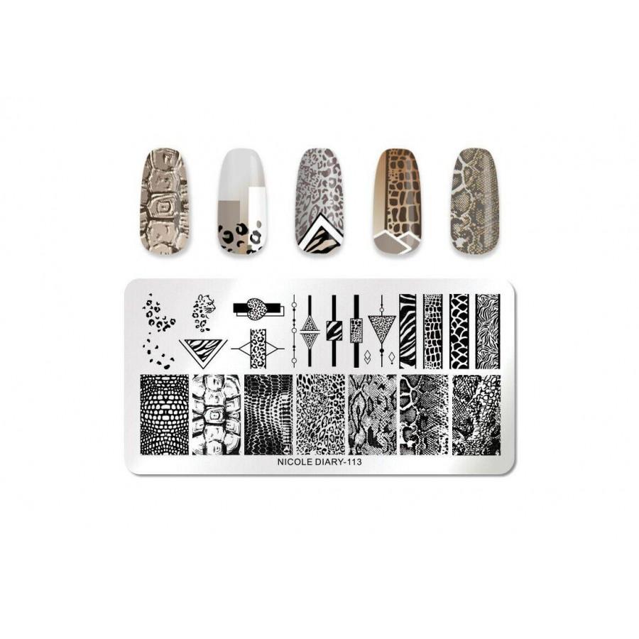 ND-113 Пластина для стемпинга Nicole Diary-113 в фирменном чехле