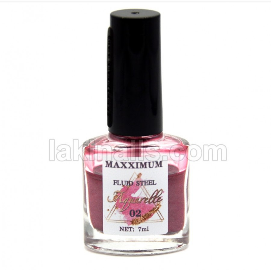 Акварельные капли хром MaXXimuM для дизайна ногтей, розовые
