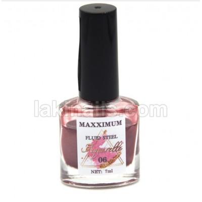 Акварельные капли хром MaXXimuM для дизайна ногтей, розовое-золото